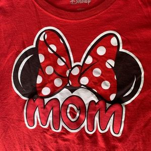 "Disney Minnie Mouse ""Mom"" T-shirt with Fringes"